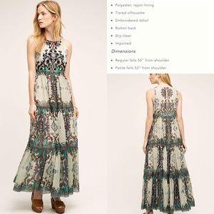 ⭕️Sold⭕️Anthro Madera Maxi Dress by Bhanuni, 8P